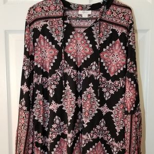 Style & Co. Size Large L/S Peasant Top Beautiful!